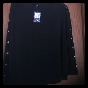 Misses XL black long sleeve top